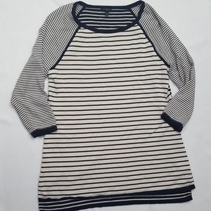 Talbots Striped Tunic NWOT